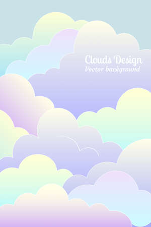 flat clouds Vector