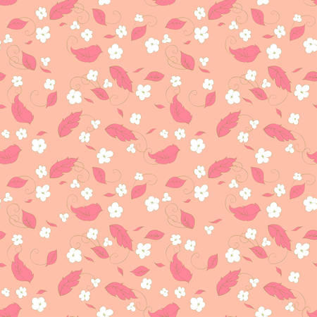 cute little flowers seamless pattern Reklamní fotografie - 34591474