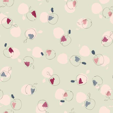 Seamless apples pattern 向量圖像