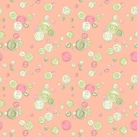 hand drawn colorful  buttons pattern Vector