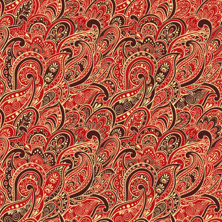colorful paisley seamless pattern Vector