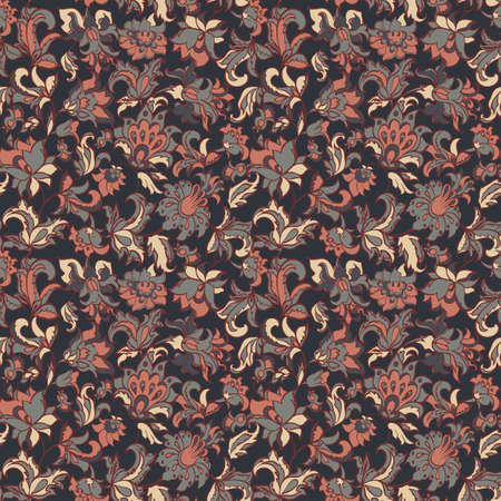 floral seamless textile pattern Vector