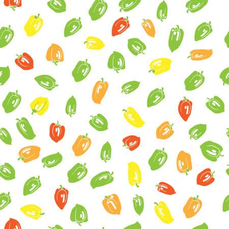 bell pepper seamless pattern Vector
