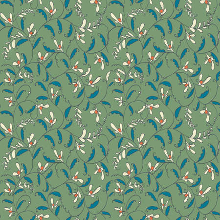 seamless line floral pattern Vector