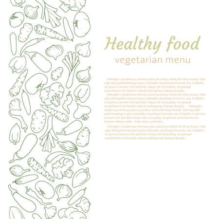 건강 식품입니다. 채식 메뉴