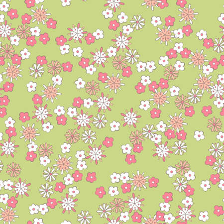 light background romantic floral seamless pattern Vector