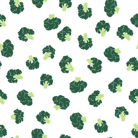 broccoli naadloos patroon Stock Illustratie
