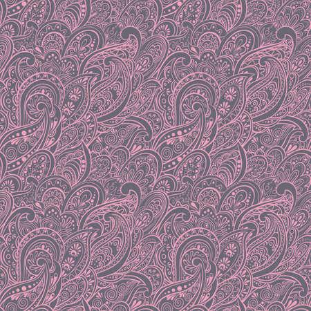 pear shaped: Paisley Seamless Pattern Illustration