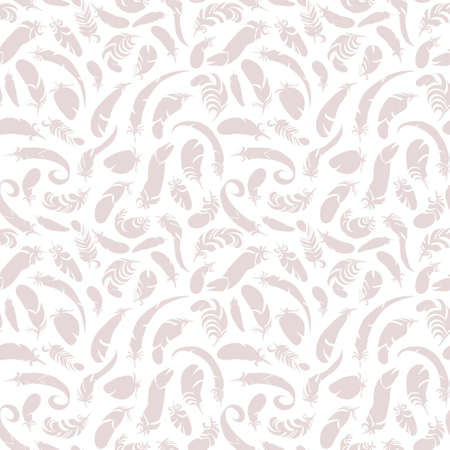 one bedroom: feathers seamless pattern