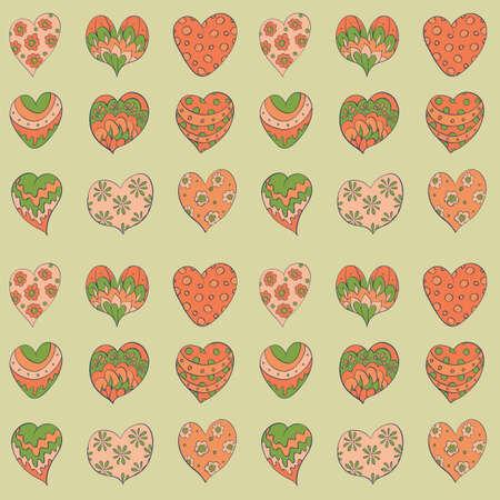 giftwrap: valentines hearts seamless  pattern Illustration