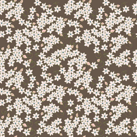 little flowers seamless textile pattern