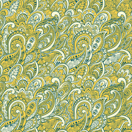 duotone: colorful paisley seamless pattern Illustration