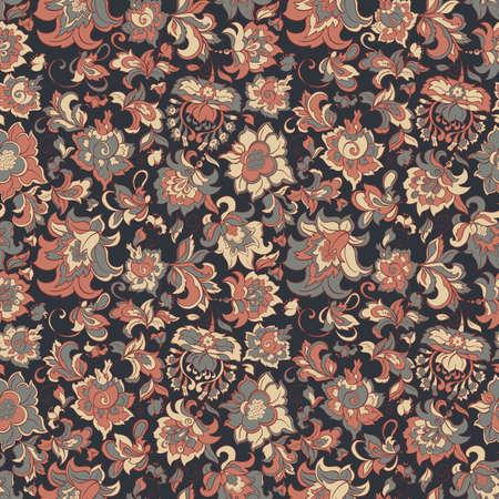 batik: fleurs ethniques seamless vector pattern