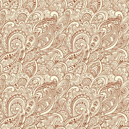 seamless pattern: Paisley Seamless Pattern Illustration