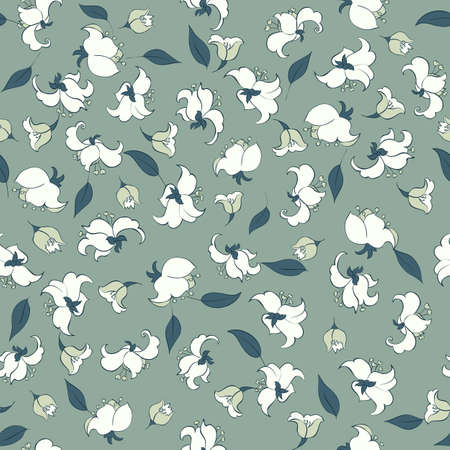 feminine beauty: cute flowers seamless pattern Illustration
