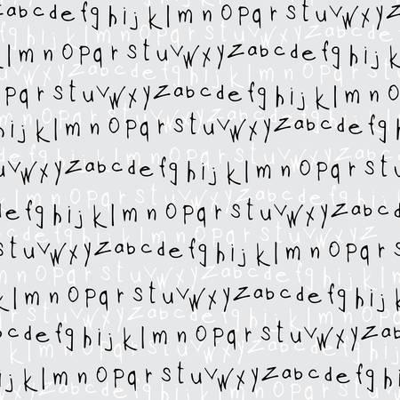 hand drawn alphabet leters seamless pattern
