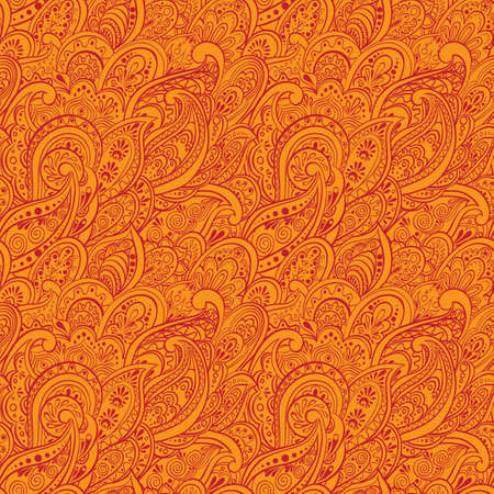 duotone: Paisley Seamless Pattern Illustration