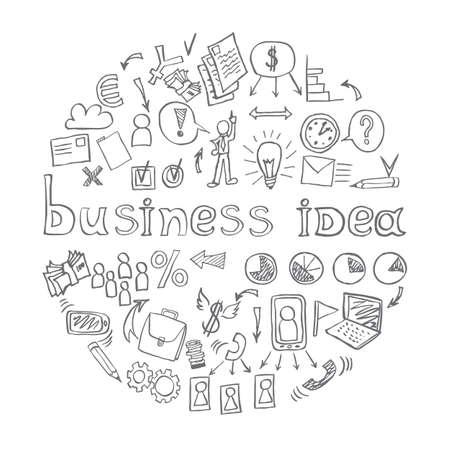 human figure: Business doodles. vector illustration