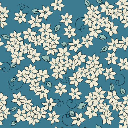 romantic love: little flowers seamless textile pattern