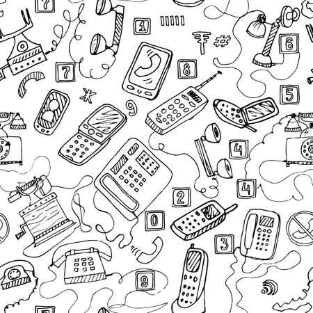 telephones: telephones seamless pattern.