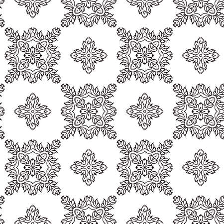 antique background: abstract black and white geometric seamless retro wallpaper
