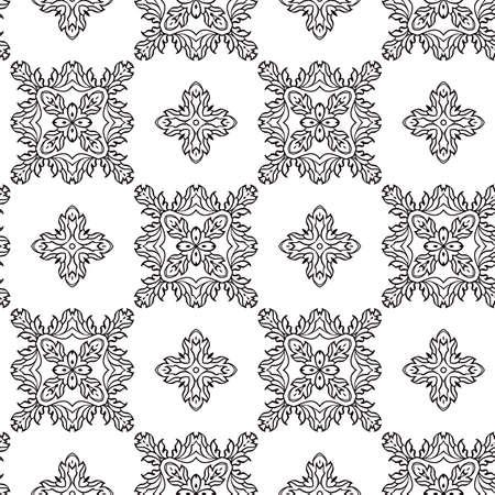 abstract black and white geometric seamless retro wallpaper