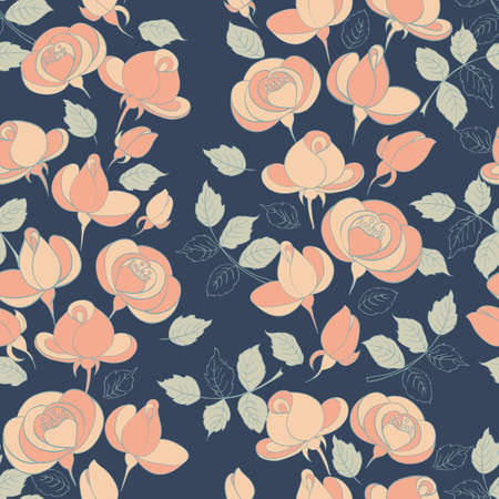 roses seamless: vintage roses seamless pattern.