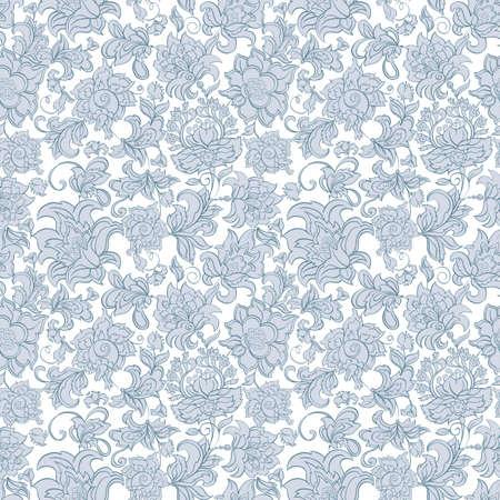エスニック花柄シームレスなベクトル  イラスト・ベクター素材