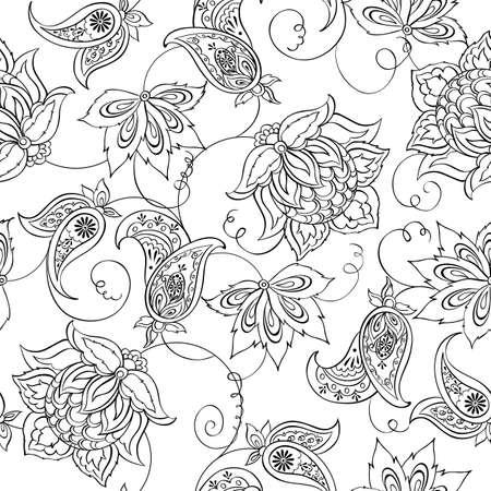 disegni cachemire: Motivo floreale Paisley. Senza soluzione di continuit� asiatico Textile