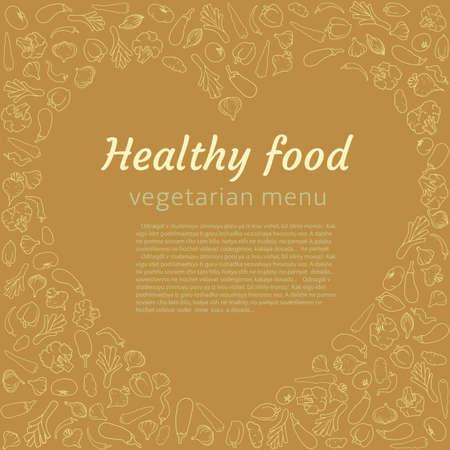 Healthy vegetable heart. Vegetarian menu