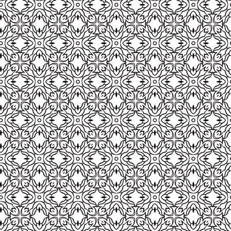 abstracte zwart en wit geometrische naadloze retro wallpaper