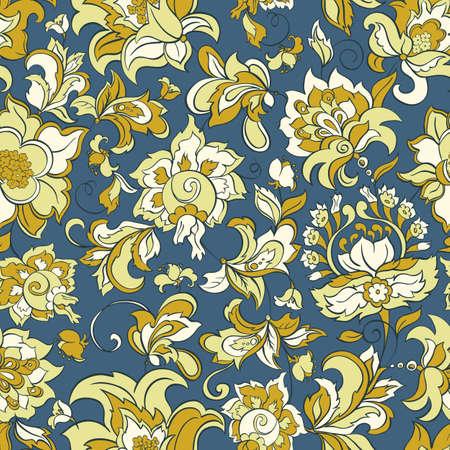 batik: floral seamless pattern Illustration