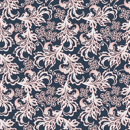 batik: vintage floral seamles pattern