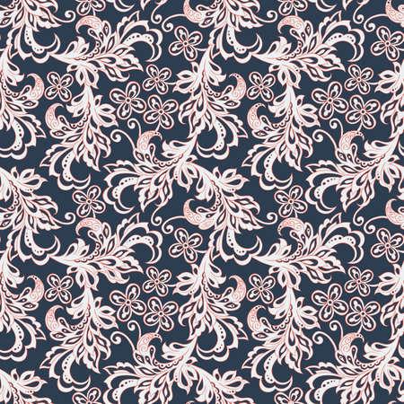 batik: Vintage pattern seamles floral Illustration