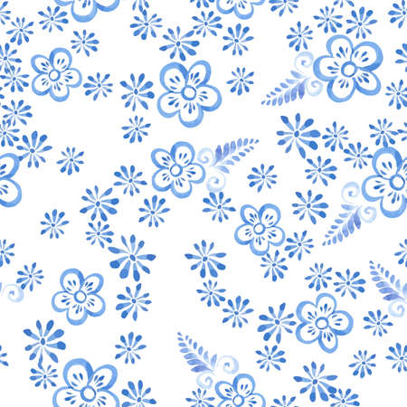 souvenir: watrcolor flowers seamless pattern