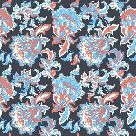 etnische bloemen naadloos patroon. folkloristische batik vector ornament.