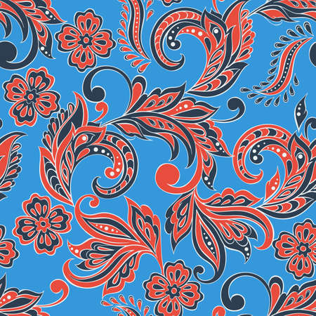 textile texture: indian floral seamless pattern