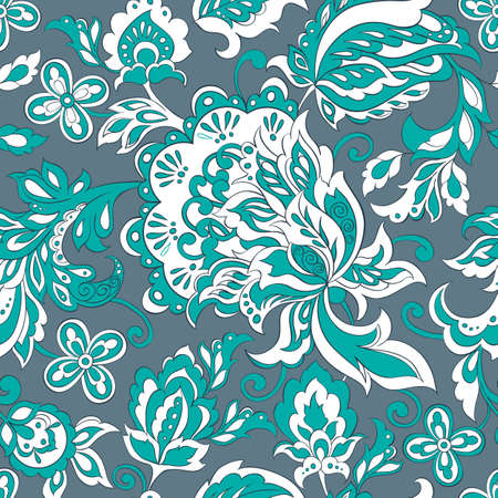 folkloric: folkloric flowers seamless pattern. ethnic floral ornament