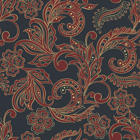 seamless floral pattern in Indian mehndi style