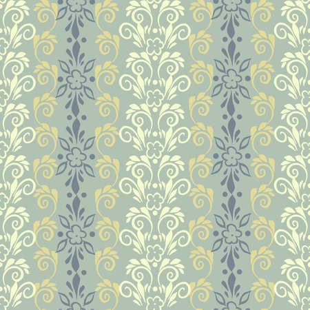 retro wallpaper: floral pattern in retro wallpaper style. seamless vector background Illustration