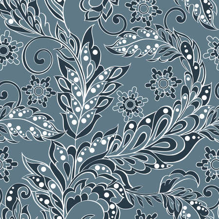 Seamless pattern in indian style. Floral illustration
