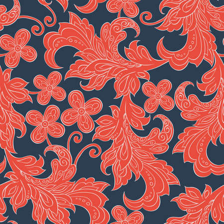 folkloric: seamless pattern with folkloric flowers Illustration