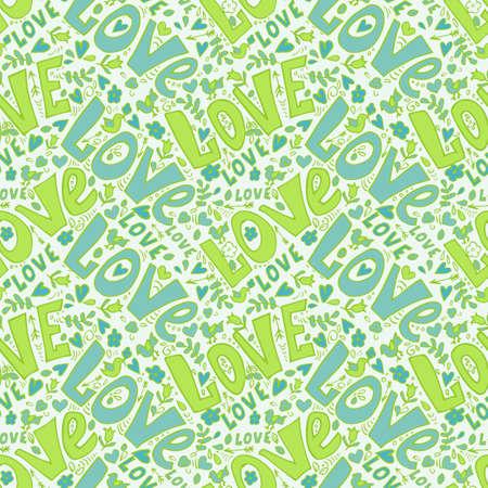 love seamless pattern. cute doodles seamless valentine day pattern Illustration