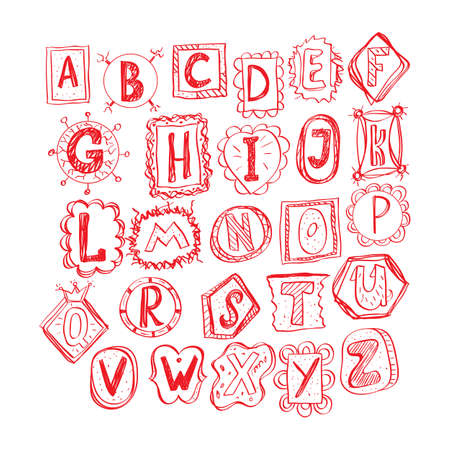 hand drawn funny doodle font