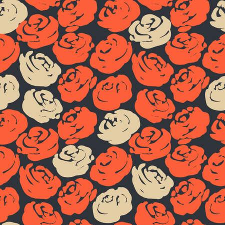 magnificence: roses seamless pattern. vector illustration Illustration