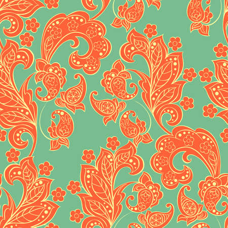 Paisley pattern in indian style. Floral vector illustration