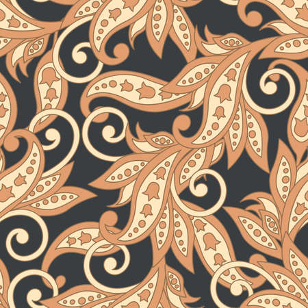 pattern: Damask Floral pattern. Seamless vector background.