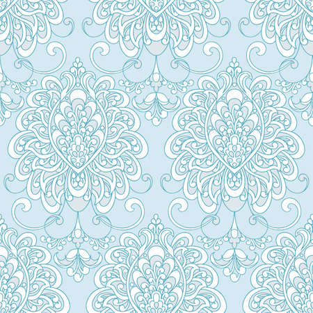 Vector textured print. Damask Seamless vintage pattern. Can be used for wallpaper