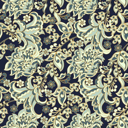 rug texture: Elegance seamless pattern with ethnic flowers. Illustration