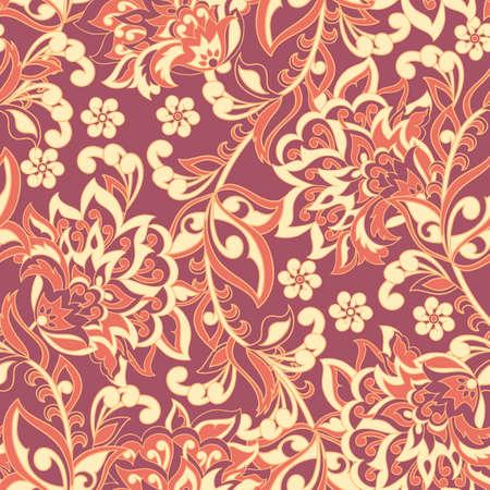 Fondo vintage floral  Foto de archivo - 75812791